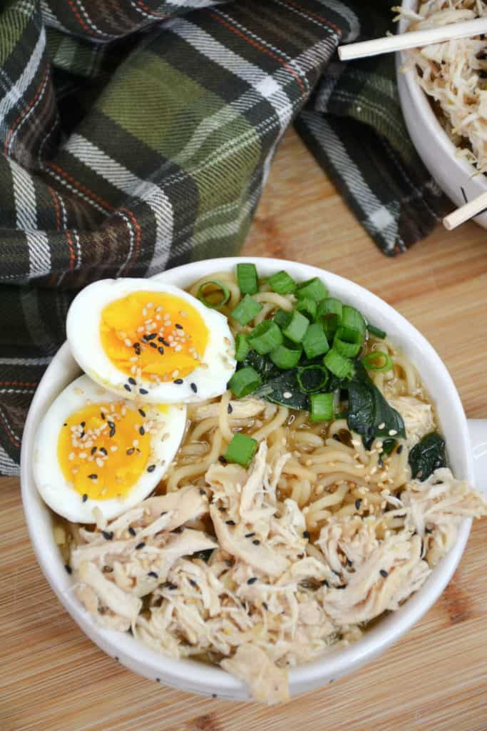ramen with eggs in bowl
