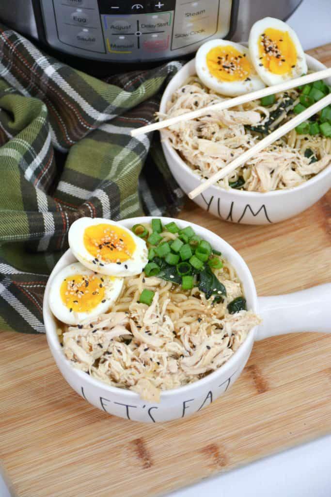 ramen soup in bowls