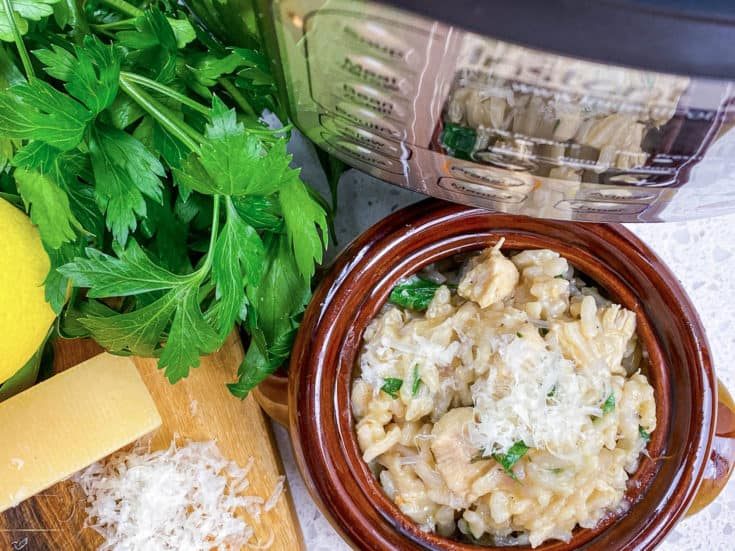 parmesan risotto in crock