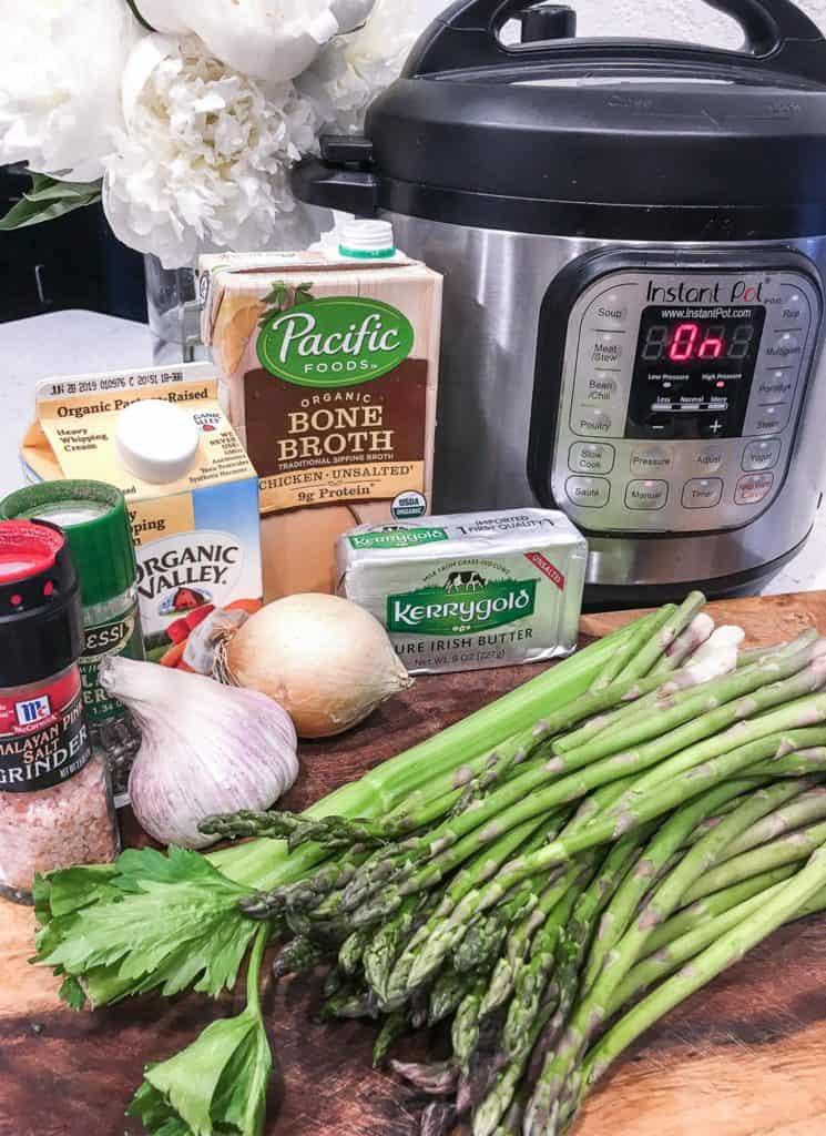 asparagus soup ingredients for instant pot or ninja foodi soup
