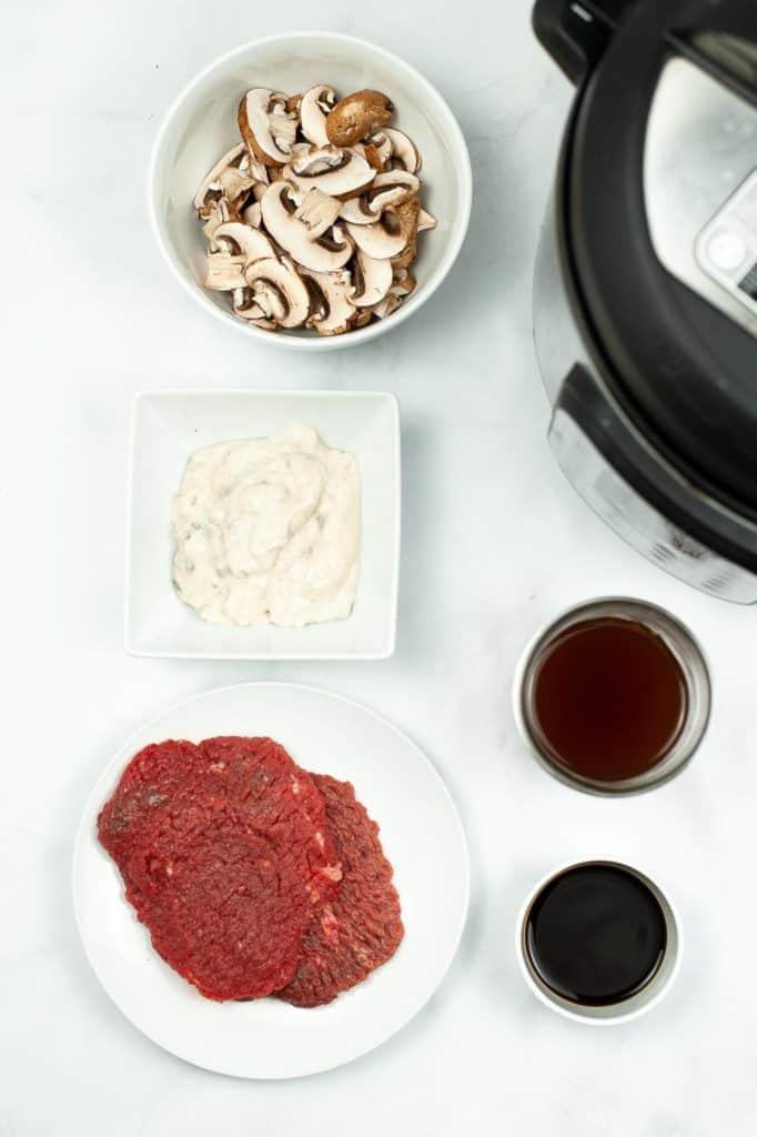 Sauce ingredients for hamburger steak