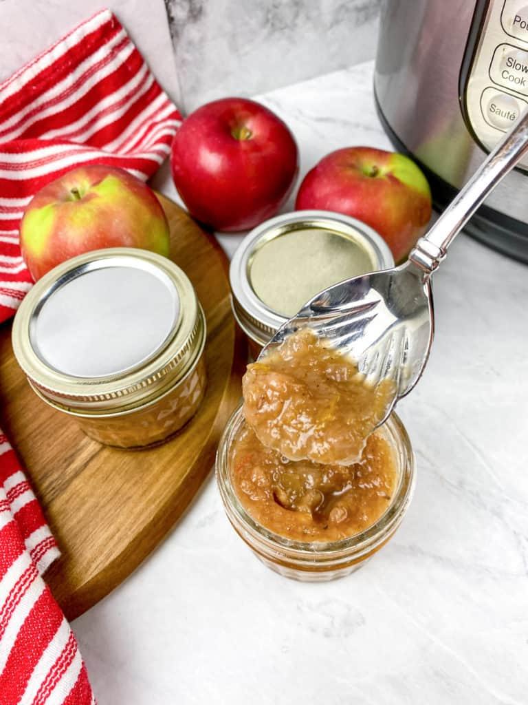 spoonful of apple chutney
