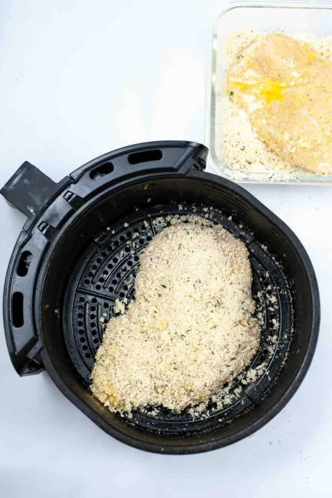 food in an air fryer