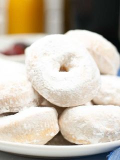 donuts stacked on a plate