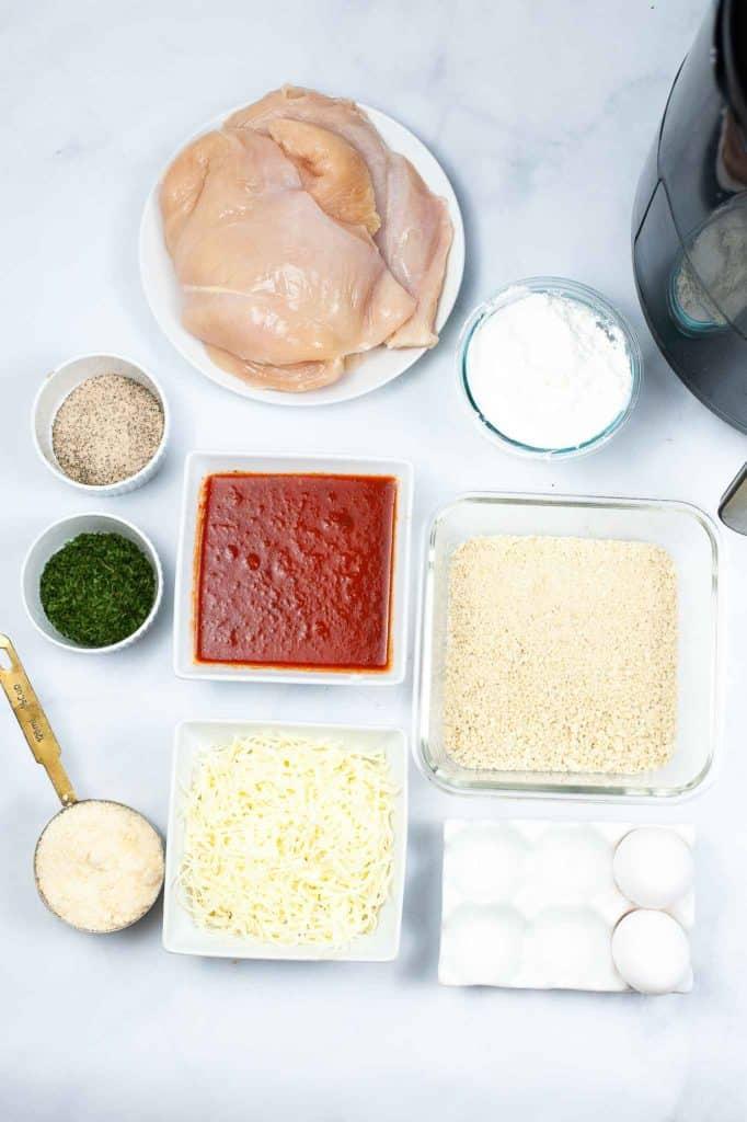 ingredients for parmesan chicken