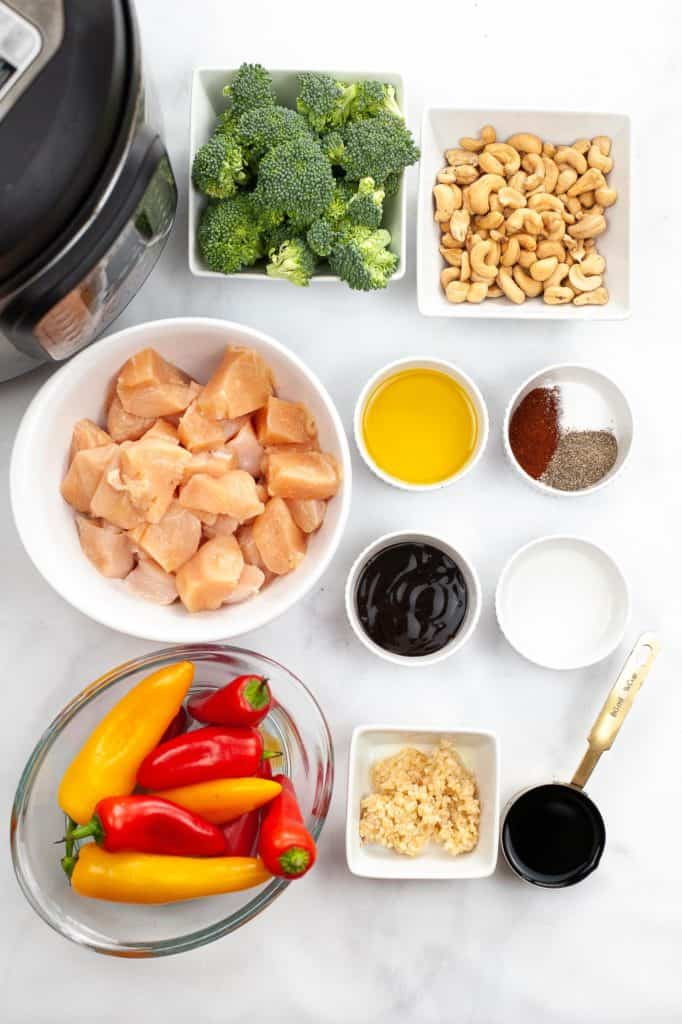 ingredients for cashew garlic chicken