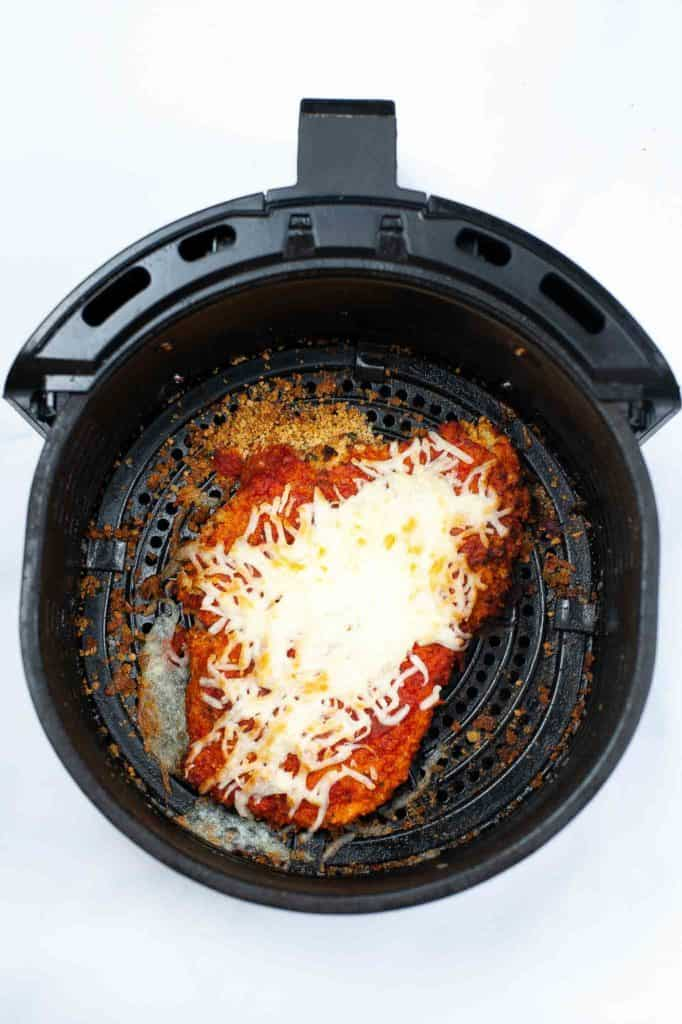 chicken parmesan with cheese in air fryer