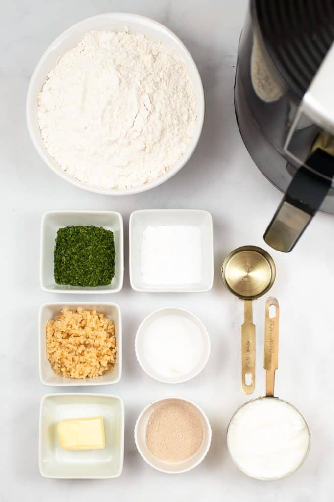 ingredients for homemade naan