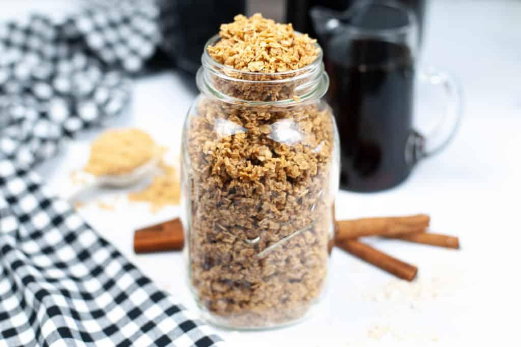 granola in jar